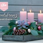 DIY: edler Adventskranz mit Eukalyptus in Rosétönen