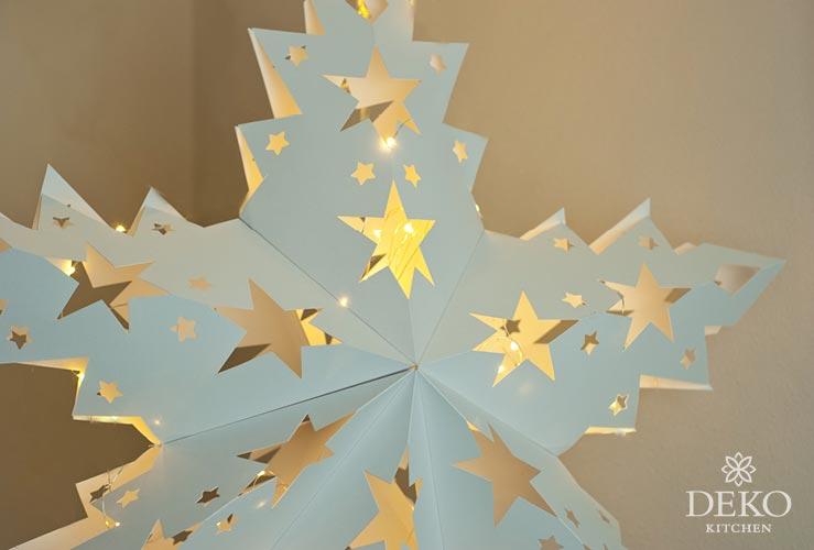 DIY: großer Adventsstern aus Papier zum Aufhängen Deko-Kitchen