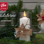 DIY: Christstern aus Jutestoff Deko-Kitchen