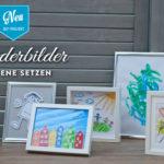 DIY: gemalte Kinderbilder hübsch in Szene setzen Deko-Kitchen