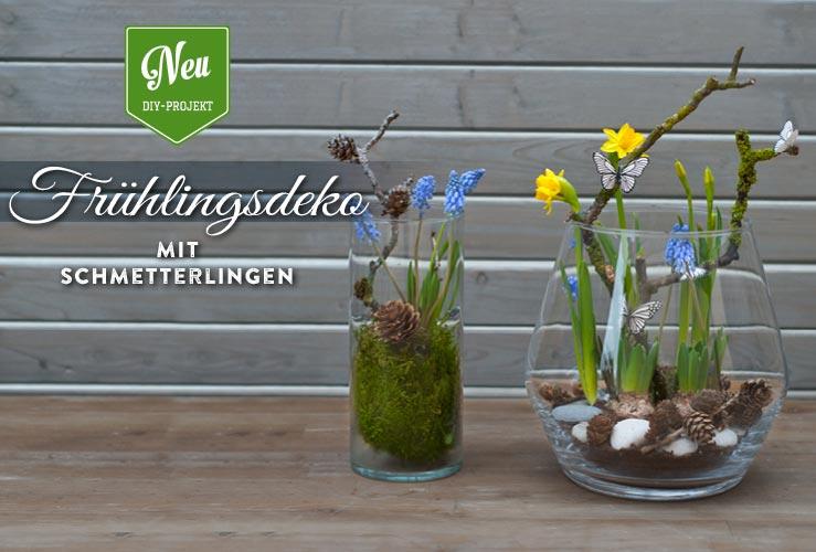 DIY: süße Frühlingsdeko mit Schmetterlingen