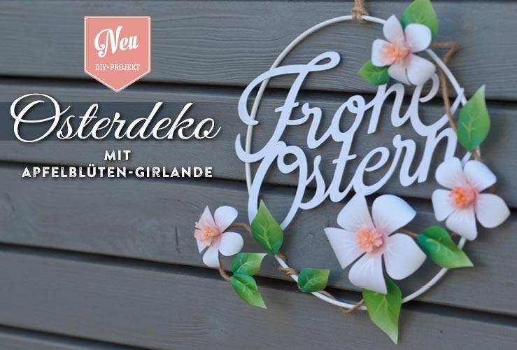 DIY: süße Osterdeko mit Apfelblüten aus Papier