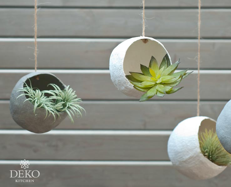 DIY: coole Hängekugeln aus Beton oder Gips