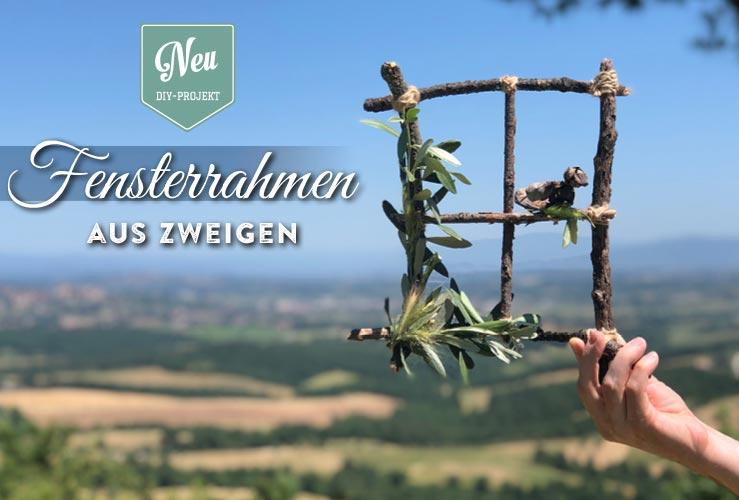 DIY: hübscher Fensterrahmen aus Zweigen – Urlaubs-Special