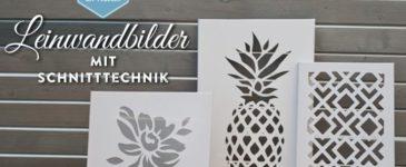 DIY: stylische Leinandbilder als Wohndeko