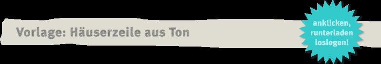 DIY-Vorklage für Häuser aus Ton