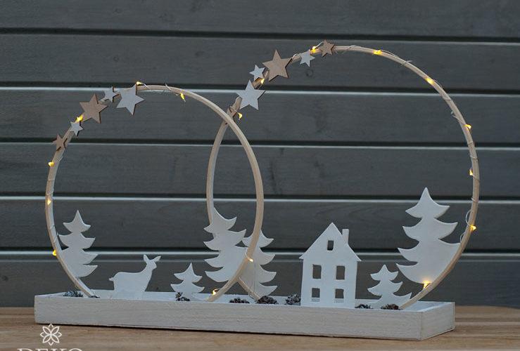 DIY: schlichte Weihnachtsdeko mit Holzringen gestalten