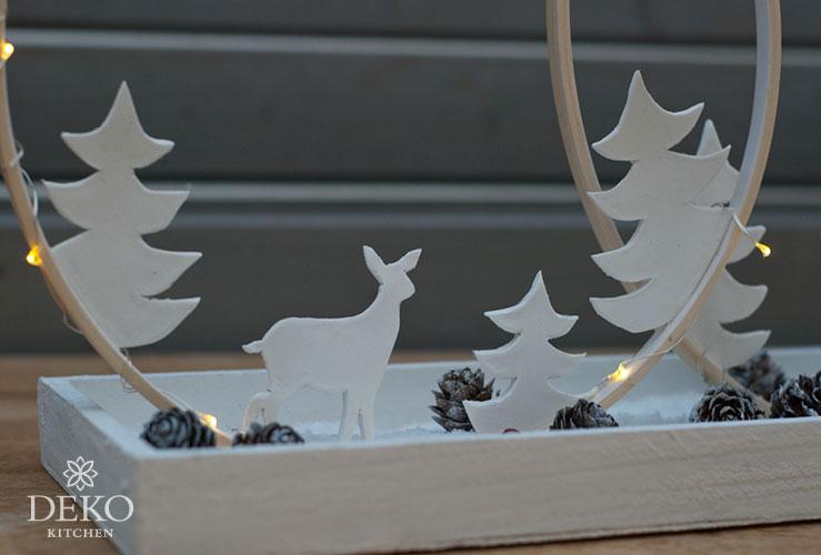 DIY: schlichte Weihnachtsdeko mit Holzringen gestalten Deko-Kitchen