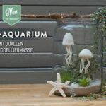 DIY: Mini-Aquarium mit kleinen Quallen aus Modelliermasse von Deko-Kitchen