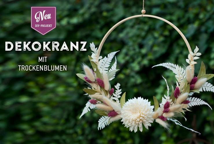 DIY: hübscher Dekokranz mit Trockenblumen